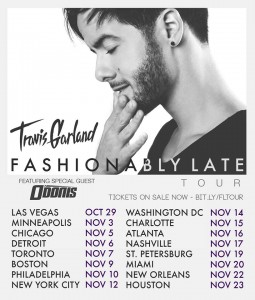 Travis Garland Tickets are on sale NOW for the Fashionably Late Tour