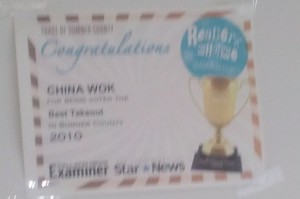 China Wok - Best Takeout Sumner County 2010