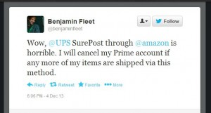 This user will cancel Amazon Prime based on UPS Surepost