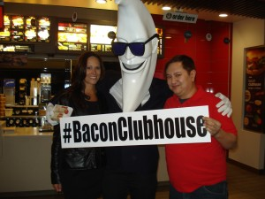 A well executed media event ushered in the Bacon Club House Sandwhich to downtown Nashville