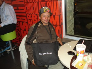 Salvadore, a writer and vendor for the Contributor. He said he enjoys the people and staff at this Mcdonalds location.