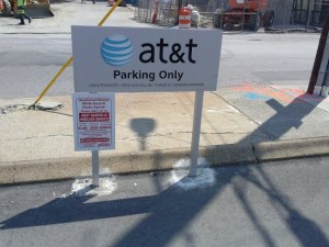 According to AT&T Employees, this sign says 'AT&T Employee Parking Only'. Where??!! Maybe they need LeVar Burton's Reading Rainbow app from Kickstarter!