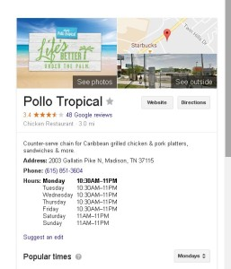 This business is so inept it can't master a Google listing!